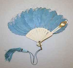 1855. Fan, French, made of silk