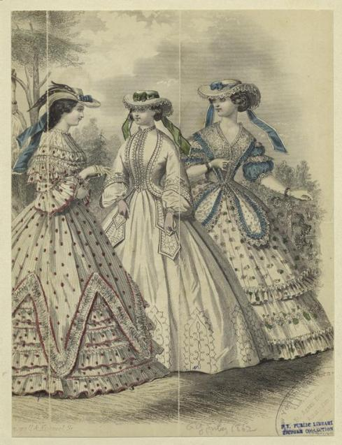 1862. summer fashion, Godey's Lady's Book