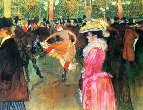 1890. Bal au Moulin Rouge  - Henri de Toulouse-Lautrec