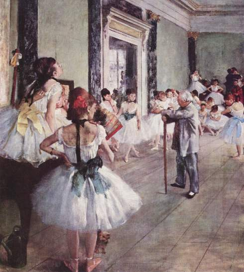 1873. The Dance Class by Edgar Degas