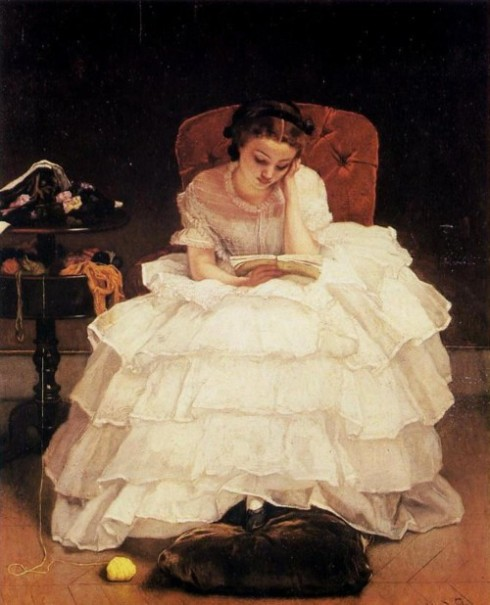 1856. Alfred Stevens Young Woman Reading