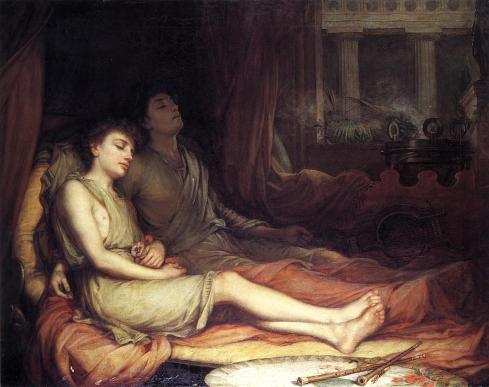 1874. Sleep and his Half-brother Death - John William Waterhouse