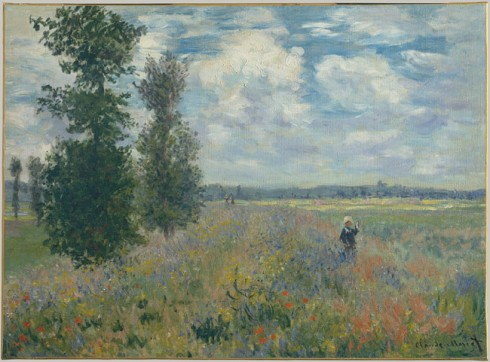 1875. Claude Monet - Poppy Field, Argenteuil