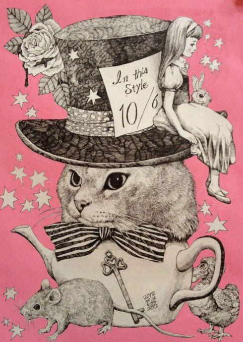 cat collage Higuchi Yuko
