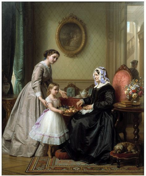 1867. Grandmother's Birthday (La Fête de la Grandmère), Josephus Laurentius Dyckmans