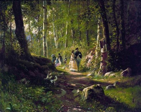 1869. A Walk in the Forest, Ivan Shishkin