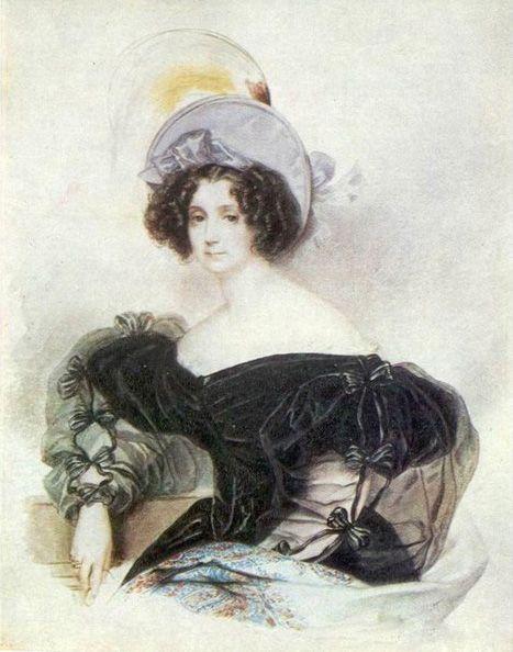 1830s Zhanetta Ivanovna Lopukhina - Karl Briullov